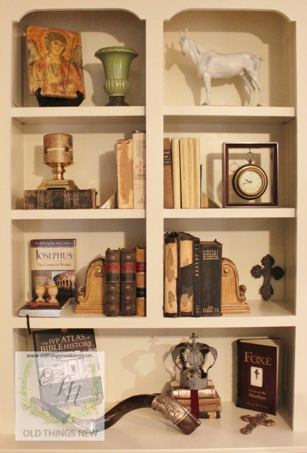 Bookcase Styling From Old Things New Blog