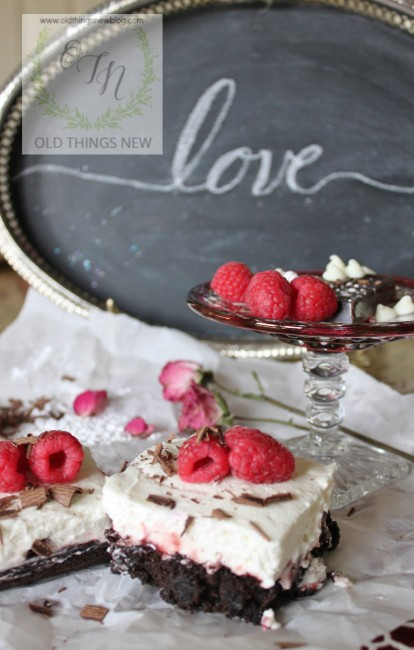 Chocolate Raspberry Valentine's Dessert 014
