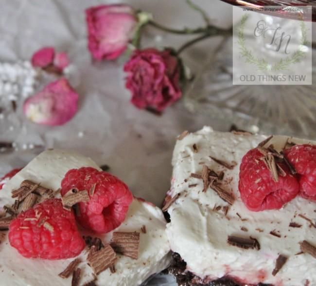 Chocolate Raspberry Valentine's Dessert 020