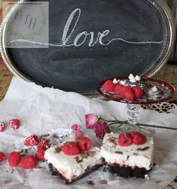 Chocolate Raspberry Valentine's Dessert 022