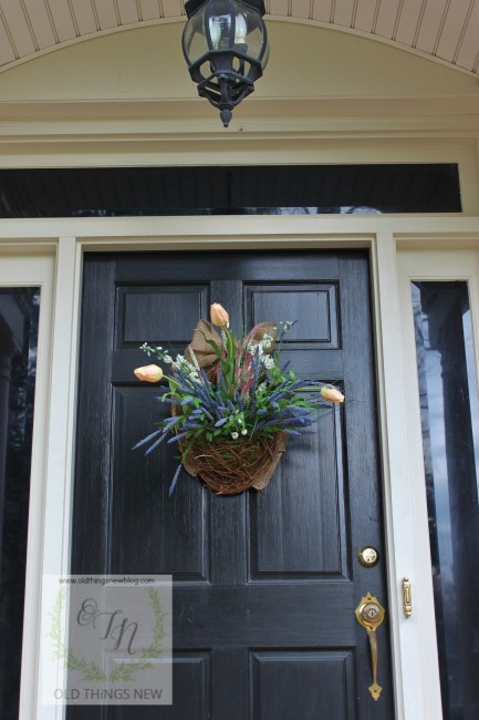 Spring Basket on Front Door 007