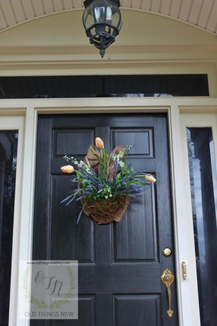 Spring Basket on Front Door 007
