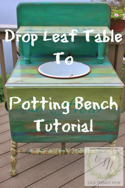 Drop Leaf to Potting Bench
