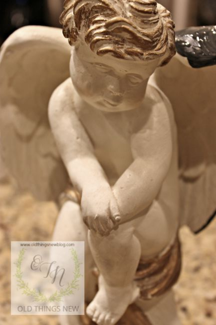 Angel - ageing with gesso 001