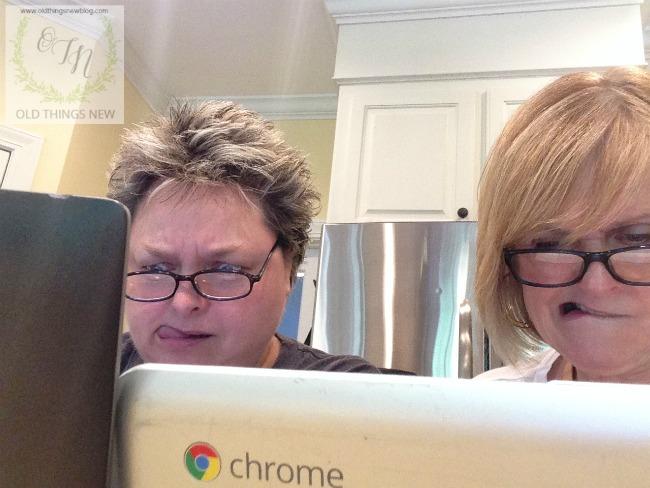 Deb & Patti Blogging2