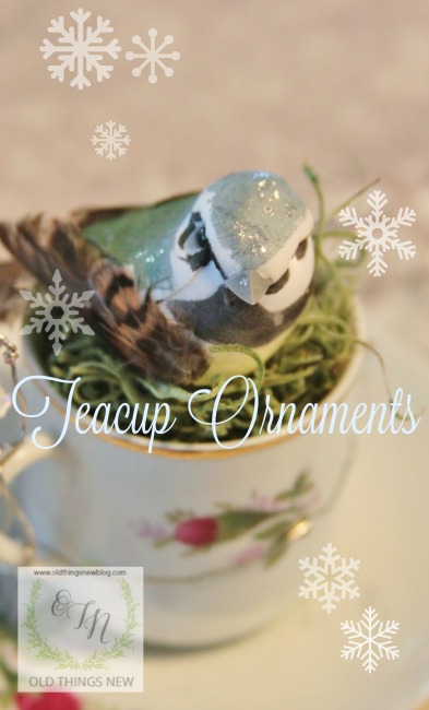 Snowy Teacup Ornaments Overlay