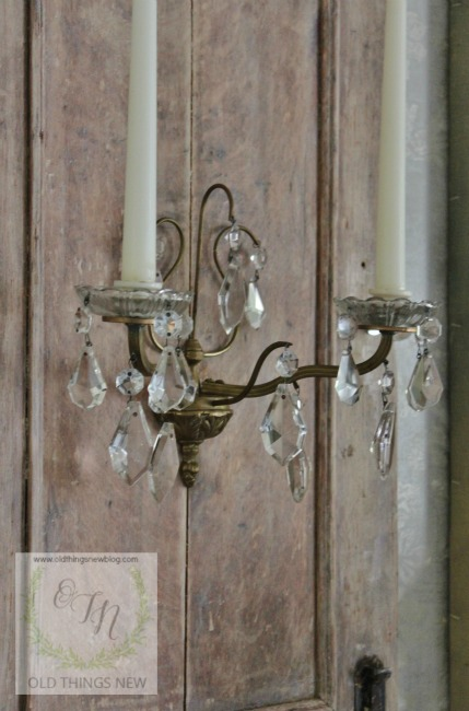 Limed Oak Wall Sconce