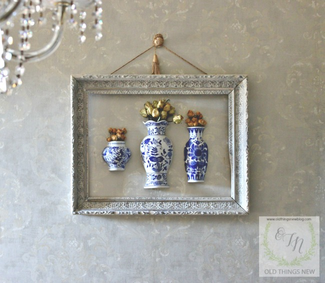 Blue and White Wall Vases