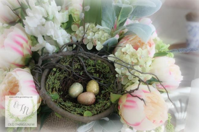 Easter Decor and Spring Arrangement 007