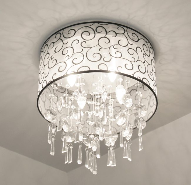 Ideal Crystal Bathroom Light Fixture
