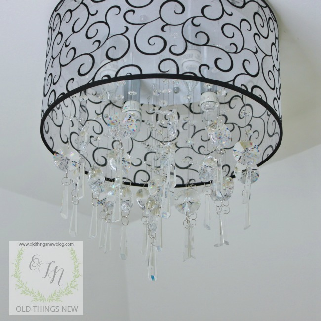 Overcome by shiny objects crystal light fixtures old things new crystal bathroom light fixture 006 mozeypictures Images