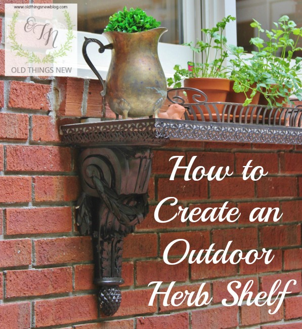 DIY Outdoor Herb Shelf