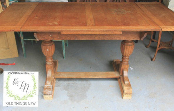 A Pottery Barn Look For A Sweet Trestle Table Old Things New - Pottery barn trestle dining table
