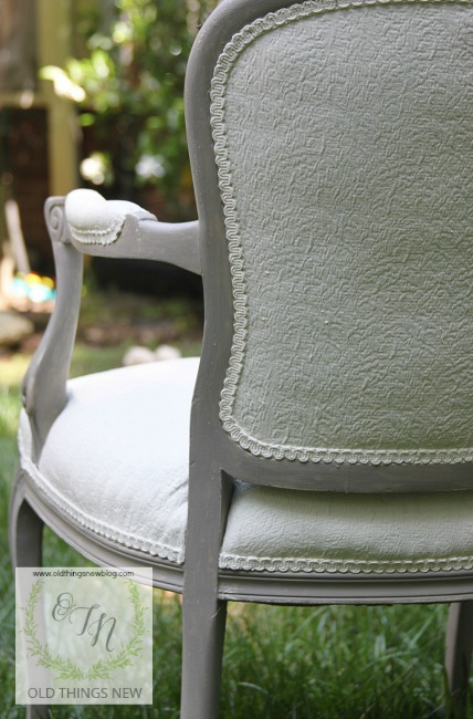 Waxing Chalk Painted Upholstery