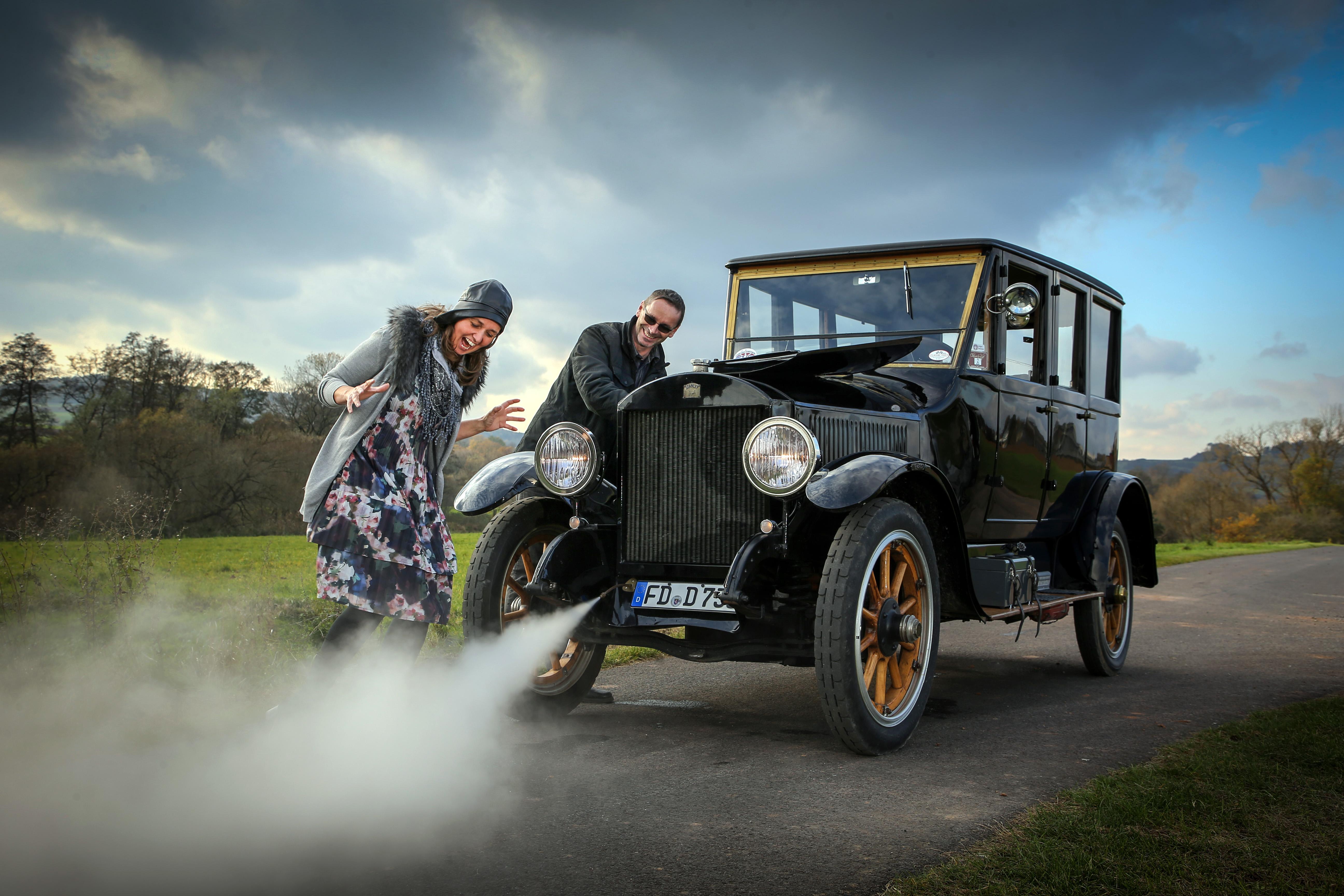 Stanley Steamer 735d (1919) Kessel - Oldtimer Hochzeit - Dampfauto - Oldtimer mieten in Fulda und Hessen für Fotoshootings