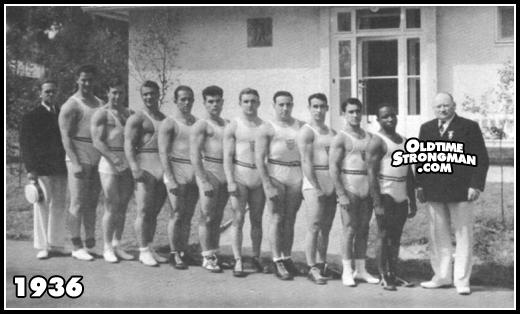 The 1936 US Olympic Weightlifting Team