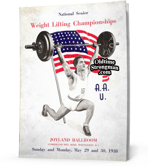 1938 Sr. Nationals Weightlifting Program