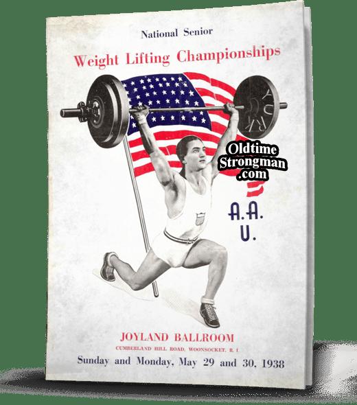 1938 Sr. Nationals Weightlifting Program