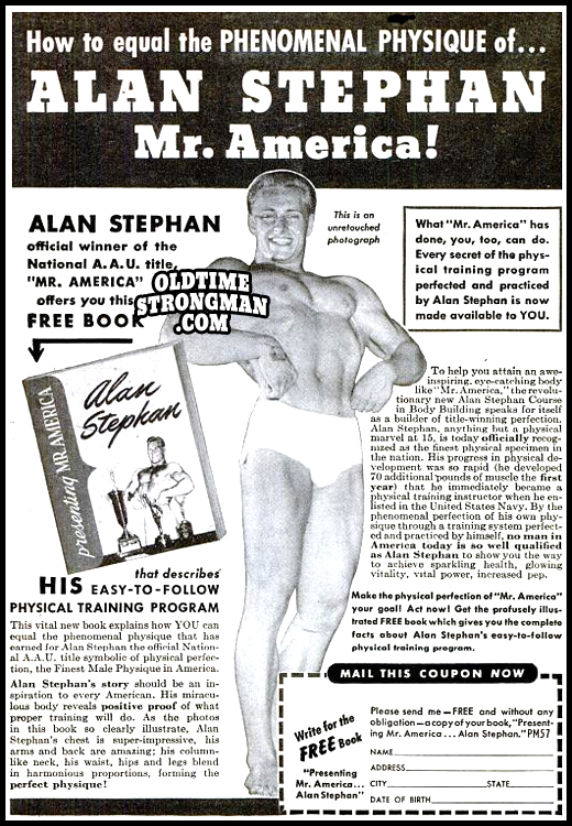 Alan Stephan, Mr. America!