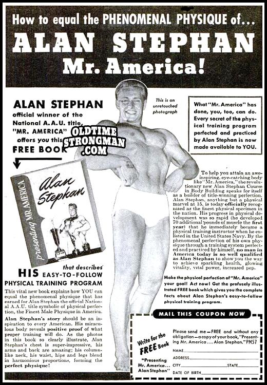 Alan Stephan, Mr. America!