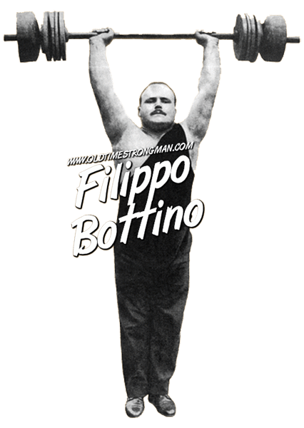 Filippo Bottino, Italian Weightlifter, presses a barbell overhead