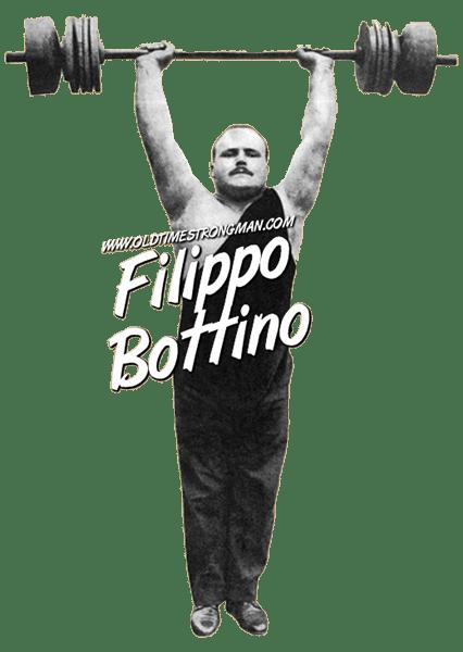Filippo Bottino, Italian Weightlifter, presses a barbell overhead