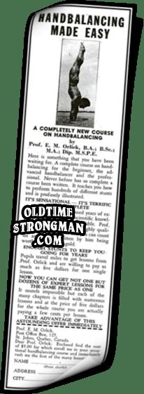 Handbalancing Made Easy by E.M. Orlick