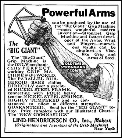 Lind-Hendrickson Big Giant Grip Machine