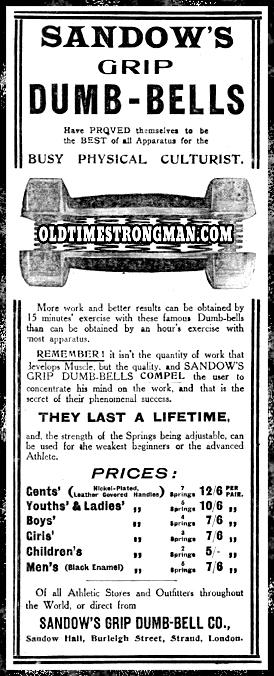 Sandow's Grip Dumb-Bells