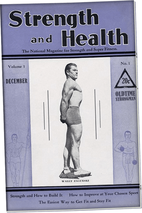 Strength and Health issues number one, Wally Zagurski cover