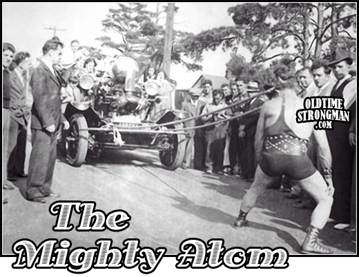 The Mighty Atom Pulls a Fire Truck with his hair.