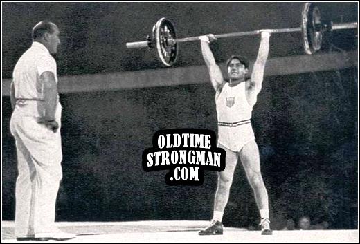 olympic snatch lift tony terlazzos winning lift wwwoldtimestrongmancom