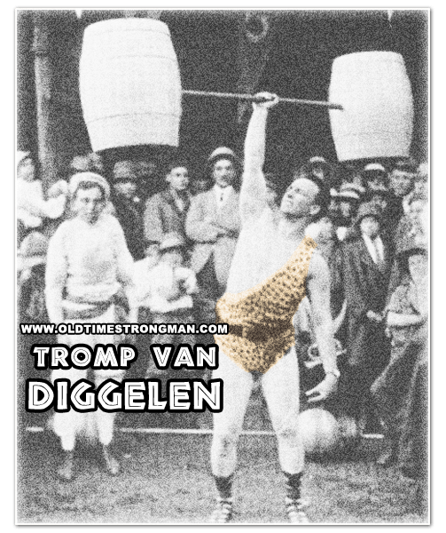 Tromp Van Diggelen presses a Barrel Barbell