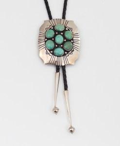 Navajo Artist MCB Turquoise Bolo