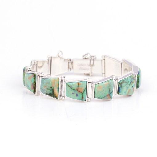 Calvin Begay Unique Link Opal Bracelet