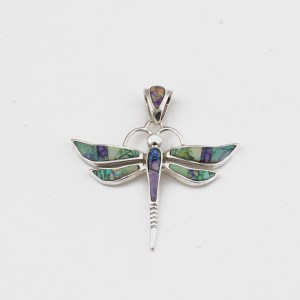 Calvin Begay Opal Dragonfly Pendant