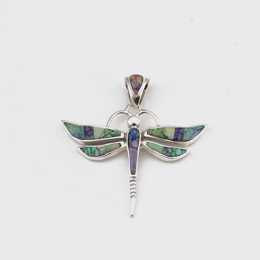 Calvin Begay Opal Dragonfly Pendant