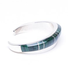 Ladies Malachite Cuff Bracelet