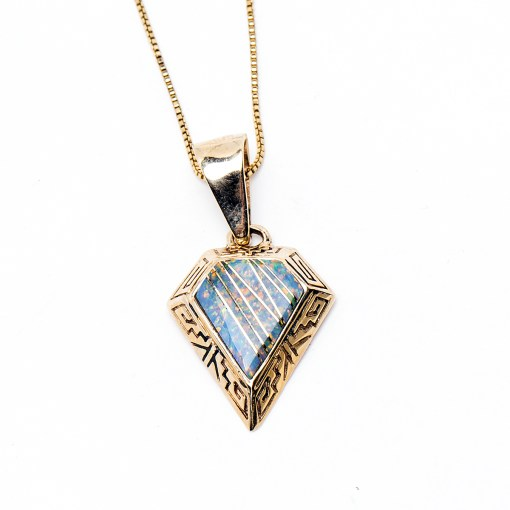 Navajo Gold Plated Opal Necklace