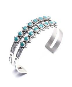 Vintage Navajo Turquoise Cuff Bracelet