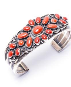 Navajo CO Vintage Coral Bracelet