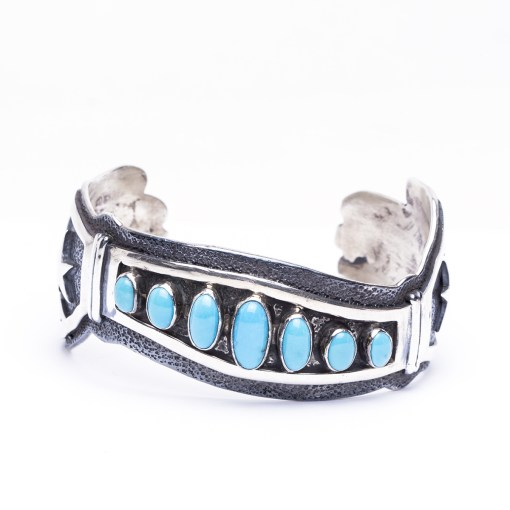 Navajo Mark Yazzie Turquoise Bracelet