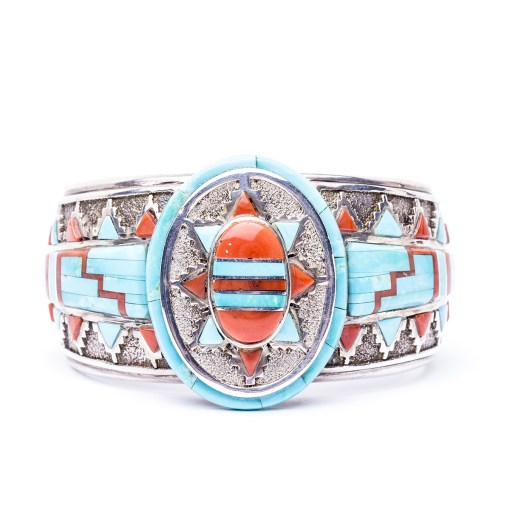 Navajo A Begay Turquoise Cuff Bracelet