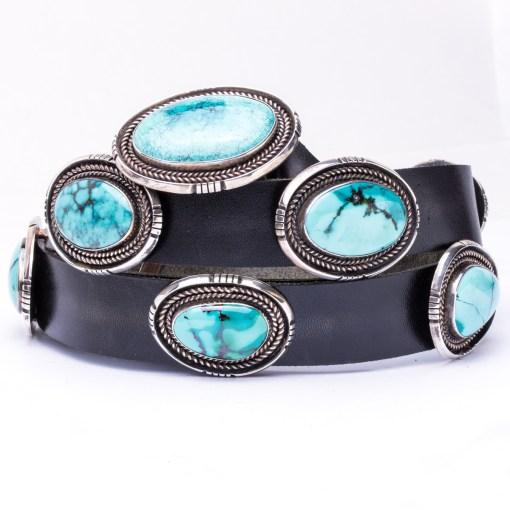 Navajo artist JB Turquoise Concho Belt