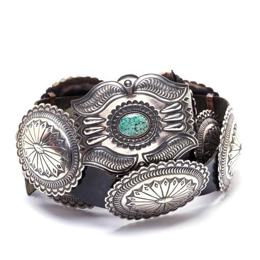 Navajo Martha Cayatineto Turquoise Concho Belt