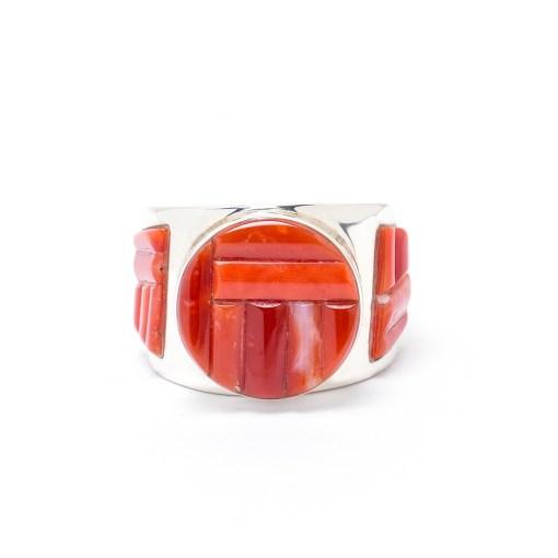 Navajo Artist GL Coral Ring