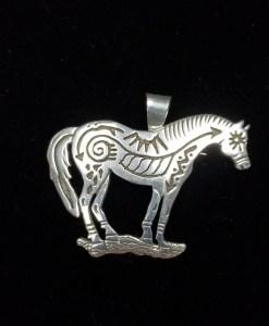Navajo Horse Pendant