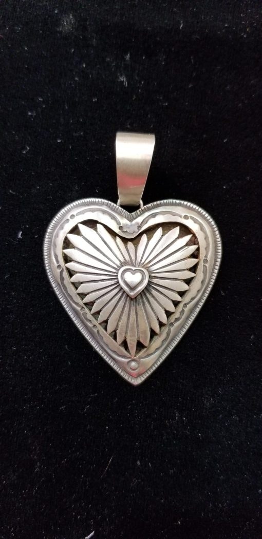 Navajo Heart pendant by Dorothy Jeffries