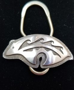 Hopi overlay Key Ring by Dorothy Jeffries