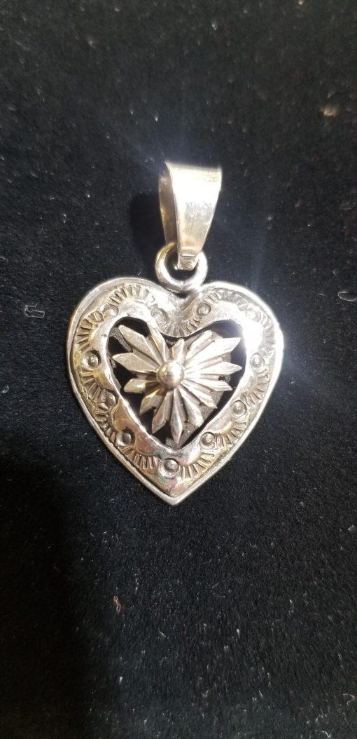 Navajo Sterling Silver Heart Pendant by DJ
